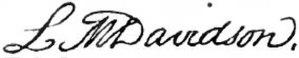 Lucretia Maria Davidson - Image: Appletons' Davidson Lucretia Maria signature