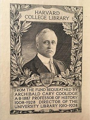 Archibald Cary Coolidge - Archibald Cary Coolidge on a bookplate