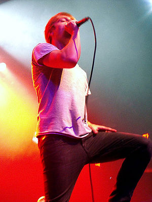 Architects (British band) - Sam Carter performing in 2009 at the Electric Factory in Philadelphia. Carter joined the band in 2007 after the departure of Matt Johnson.