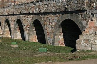 Roman bridge of Salamanca - Image: Arcos Puente Romano Salamanca (Lado nuevo)