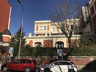 Argentina–Spain relations - Image: Argentinian Embassy, Madrid 01