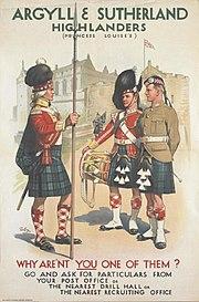 Argyll & Sutherland Highlanders recruiting poster 1914
