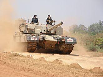 Arjun (tank) - Arjun MBT bump track test