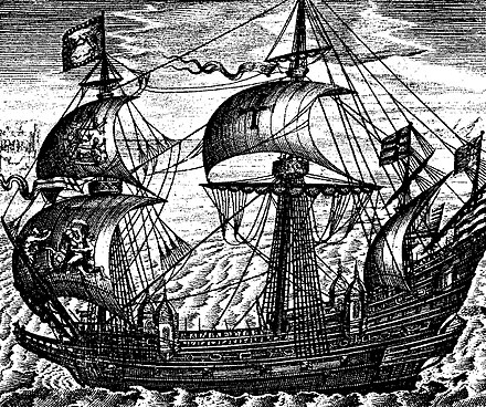 English galleon Ark Royal from 1587 Ark-Royal-1587.jpg