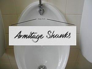 Armitage Shanks - Armitage Shanks on a Urinal