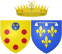 Arms of Marguerite Louise d'Orléans as Grand Duchess of Tuscany.png