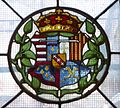 Arms of Mary of Guise, Magdalen Chapel, Edinburgh.JPG