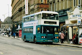 Arriva Yorkshire - Eastern Coach Works bodied Leyland Olympian in Leeds in April 2006
