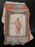 Arte romana, affresco staccato con un satiro, 1-75.JPG