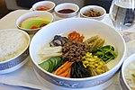 Asiana Airlines NRT to ICN Business Class Lunch- Bibimbap (8300647291).jpg