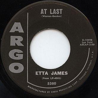 At Last - Image: At Last Etta James