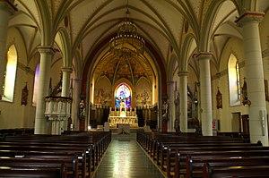Attalens - Interior of the Notre-Dame De L'Assomption Church