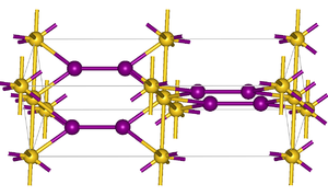 Gold monoiodide - Image: Au I structure