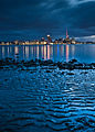 Auckland skyline from a beach in Devonport.jpg