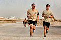 Australian Army Trooper Jake Ball and Pvt. Charles Oldham participate in the Sand to Sand charity run at Multinational Base Tarin Kowt, Uruzgan province, Afghanistan, Aug. 17, 2013 130817-O-MD709-296-AU.jpg