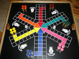 Uckers - Six-sided Uckers board