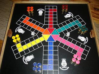 Uckers - Six-sided Uckers board