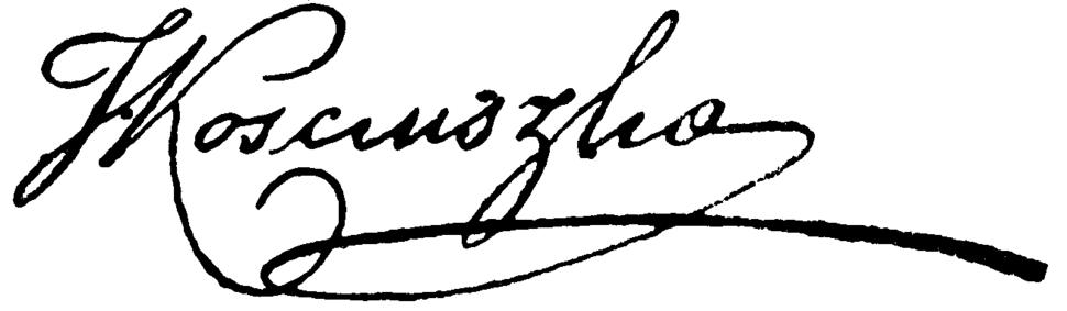 Autograph-TadeuszKosciuszko