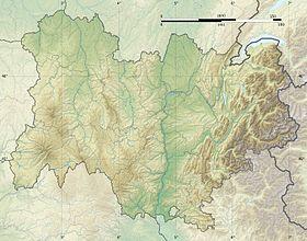 voir sur la carte d'Auvergne-Rhône-Alpes