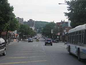 Laurier Avenue (Montreal) - Laurier Avenue west of Saint Laurent Boulevard.
