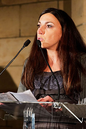 Wiki Loves Monuments - Nathalie Martin during Awards ceremony of Wiki Loves Monuments 2015 in France