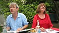 Axel Scheffler und Julia Donaldson im September 2011 im Garten des Hauses der Berliner Festspiele in Berlin während des 12. internationalen literaturfestivals berlin.jpg