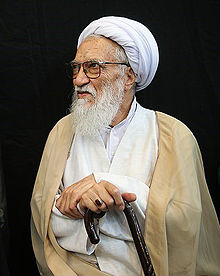 Ayatollah Movahhedi Kermani and Ebrahim Raeesi by Tasnimnews (cropped).jpg
