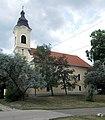 Az Evangelikus templom, Erzsébet liget felől néve, 2018 Oroszlány.jpg
