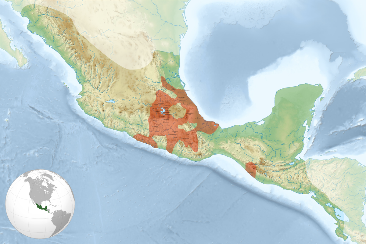 Aztec Empire World Map.Aztecs Wikipedia