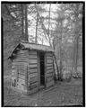 BOB BOWMAN OUTHOUSE - Liberty Historic District, Bob Bowman Cabin, Route 2, Cle Elum, Liberty, Kittitas County, WA HABS WASH,19-LIB,1E-2.tif