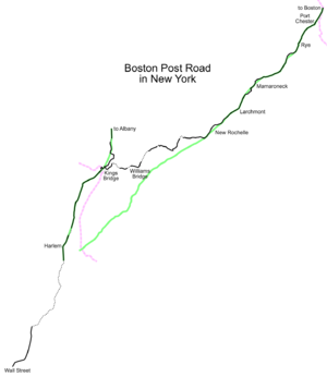 King's Highway (Charleston to Boston) - Image: BPR NY map
