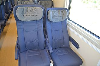 Transport in Botswana - The new comfortable chairs of BR Express