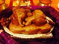 Baby Ganesha made in clay for worship on 14 August 2014.jpg