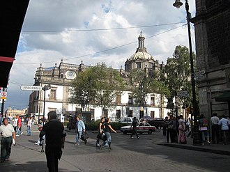 Mexico City Metropolitan Cathedral - Back section of cathedral facing República de Guatemala street.