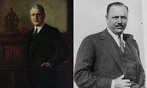 Davis–Bacon Act of 1931 - Sen. James J. Davis (R–PA) and Rep. Robert L. Bacon (R–NY-1), the co-sponsors of the Davis–Bacon Act.