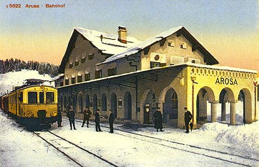 Bahnhof Arosa 1914