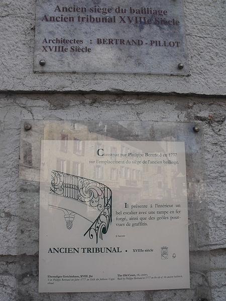 Panneau-Ancien Baillage de Baume-les Dames, Doubs, France
