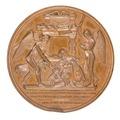 Baksida av medalj med änglar - Skoklosters slott - 99321.tif
