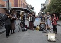 Band playing on Bourbon Street in the French Quarter, New Orleans, Louisiana LCCN2011646945.tif