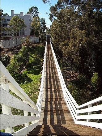Bankers Hill, San Diego - Quince Street pedestrian bridge in Banker's Hill neighborhood of San Diego, California.