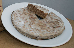Bere (grain) - Traditional beremeal bannock, as made on Orkney, Scotland