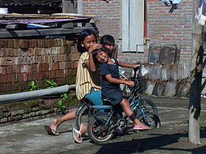 Bantul - Three young girls in Bantul