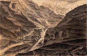 Hippolyte Destailleur - Barèges  au XIXéme siècle (collection Hippolyte Destailleur)