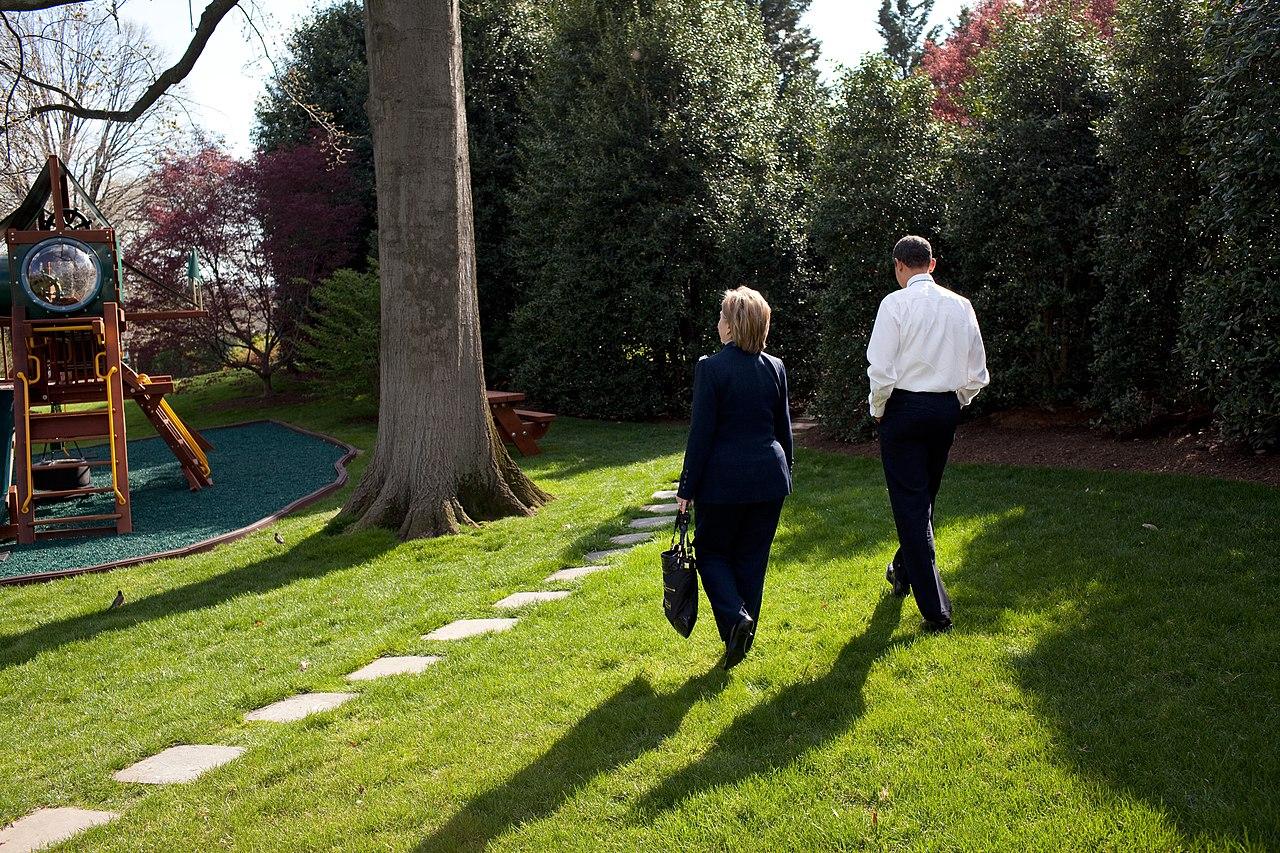 Clinton Walking Dog