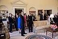 Barack Obama in the Oval Office replica in the George W. Bush Presidential Center.jpg