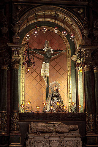 Barcelona Cathedral - Christ of Lepanto over the tomb of St. Olegarius
