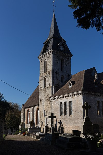 Église Saint-Jean-Baptiste de Barneville-la-Bertran.