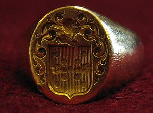 French nobility - A signet ring with coat of arms