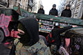 Barricade line separating internal troops and protesters. Clashes in Kyiv, Ukraine. Events of February 18, 2014.jpg