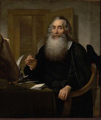Petrus Scriverius - Portrait of Petrus Scriverius by Bartholomeus van der Helst